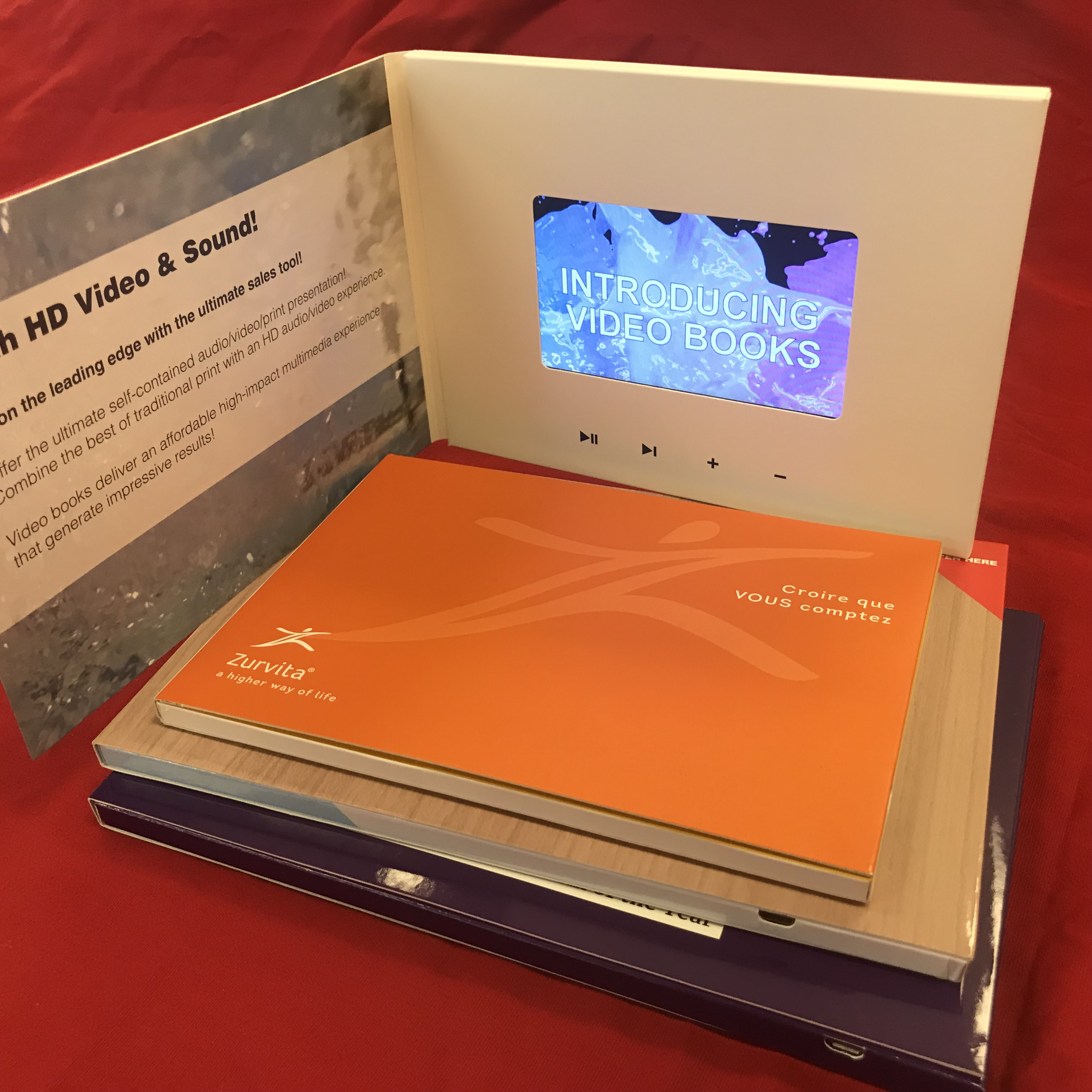 Soft cover video brochures