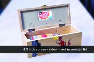 4.3 inch video wooden wine box