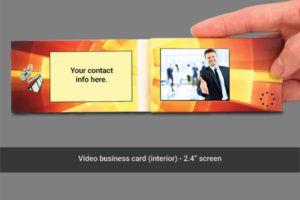 """2.4"""" LCD soft cover business card video brochure"""