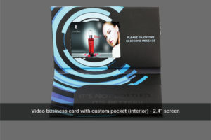 """2.4"""" LCD screen soft cover video brochure with custom interior pocket"""