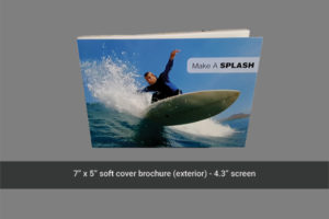 5 x 7 soft cover brochure front cover image.