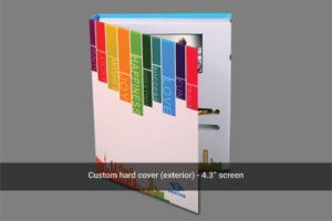 4.3 inch LCD portrait hard cover front image