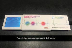 2.4 inch pop out video brochure