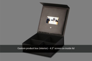 4.3 LCD screen in lid custom video box