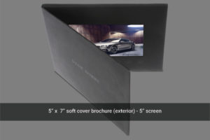 5 inch video brochure front image