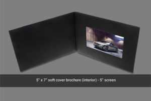 5 inch soft cover video brochure with LCD screen