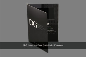 5 inch LCD soft cover video brochure front cover image