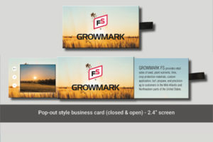 2.4 inch video pop out card