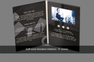 5 inch LCD soft cover video brochure in portrait orientation