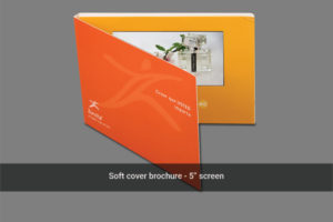5 inch LCD soft cover video mailer front cover