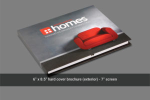 Front cover video mailer for real estate.