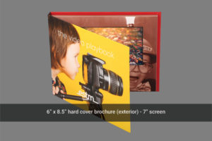 7 inch LCD video mailer front cover
