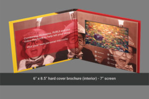 7 inch LDC hard cover video mailer with topical navigation