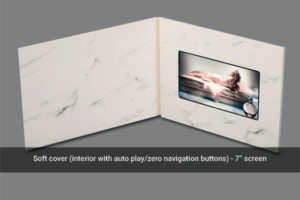 7 inch soft cover video mailer with zero navigation
