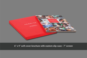 Soft cover video mailer with 7 inch LCD screen
