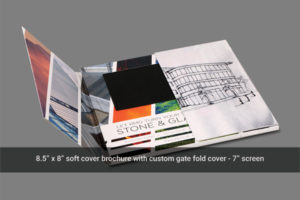 7 inch gate fold video mailer cover