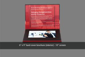 Flip open 10 inch video brochure hard cover