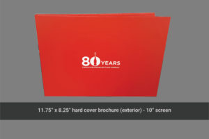 A4 carrier size for 10 inch video brochure