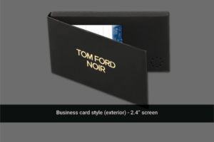 2.4 inch video business card cover image