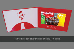 Coca Cola 10 inch hard cover video brochure
