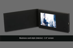 2.4 inch soft cover video business card with no navigation