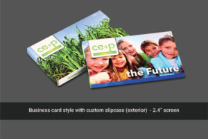 2.4 inch soft cover video mailer with mailing sleeve