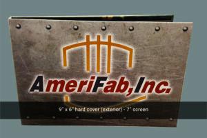 Amerifab 7 inch hard cover video brochure