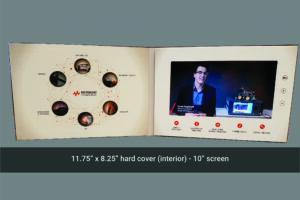 Keysight 10 inch hard cover video brochure