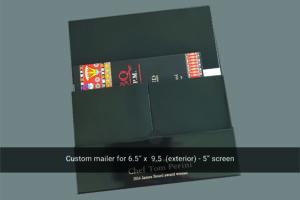 Lulu 5 inch video mailer inside
