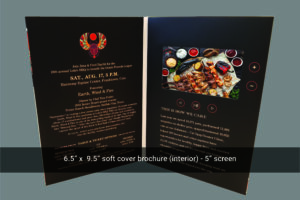 Portrait soft cover 5 inch video mailer